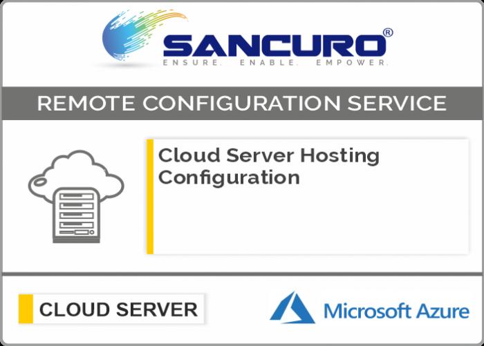 Azure Cloud Server Hosting Configuration