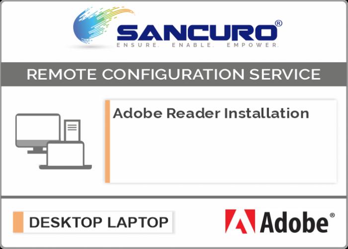 Adobe Reader Software Installation on Desktop / Laptop