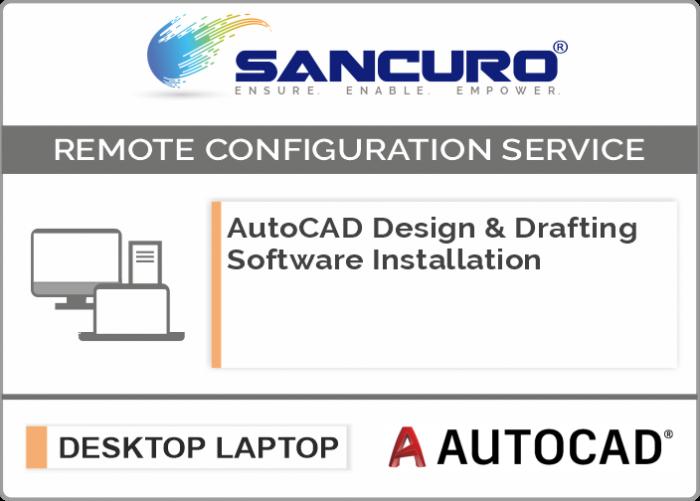 AutoCAD Design & Drafting Software Installation on Desktop / Laptop