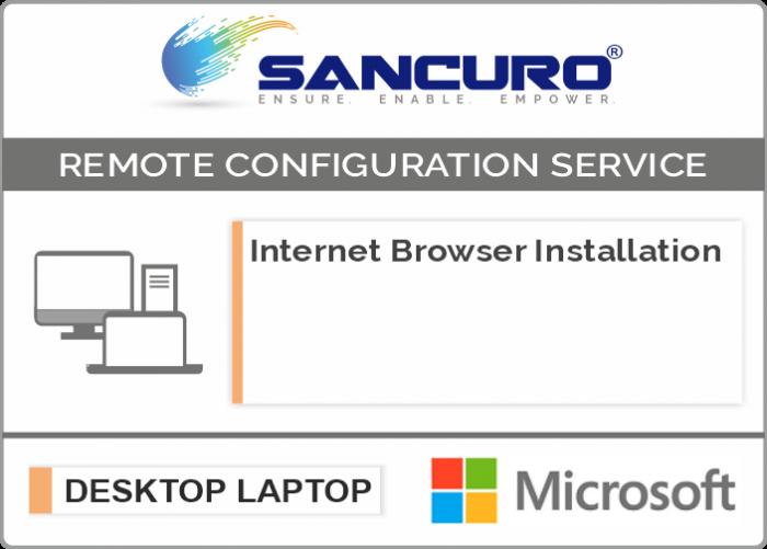 Microsoft Internet Browser Installation