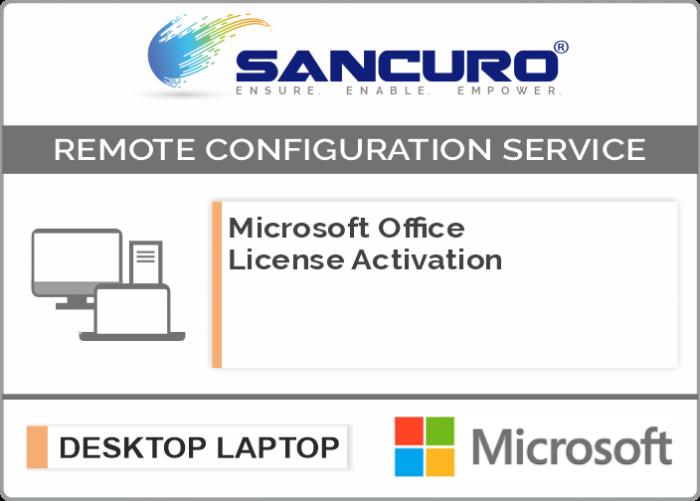 Microsoft Office License Activation on Desktop / Laptop