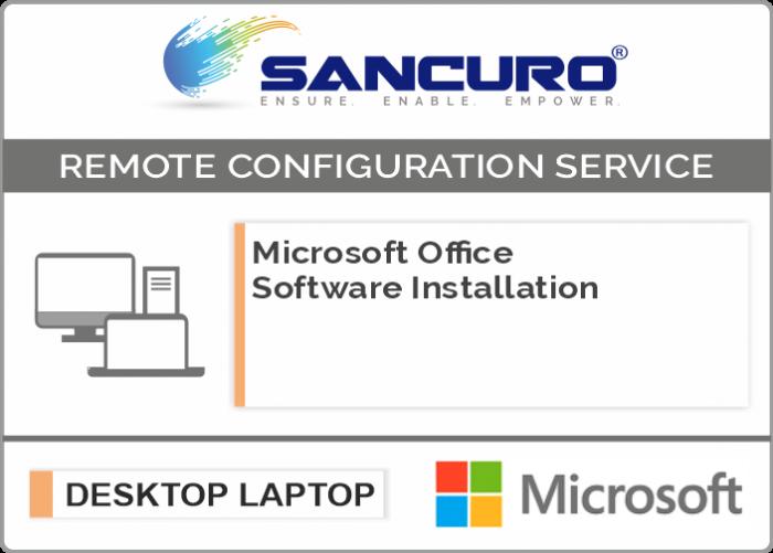 Microsoft Office Software Installation on Desktop / Laptop