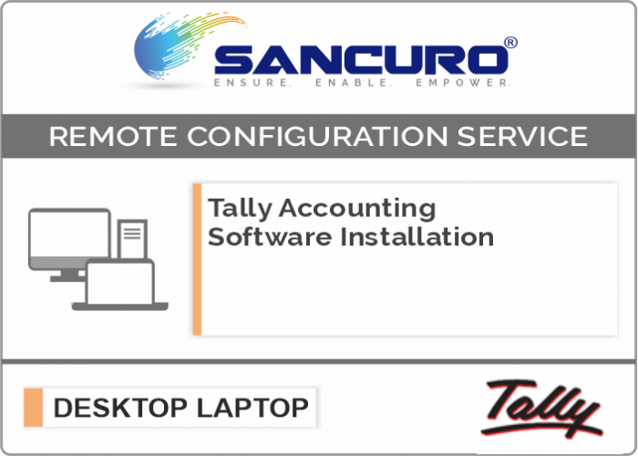 Tally Accounting Software Installation on Desktop / Laptop / Server