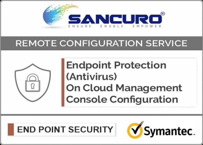 Symantec On Cloud Endpoint Protection (Antivirus) Management Console Configuration