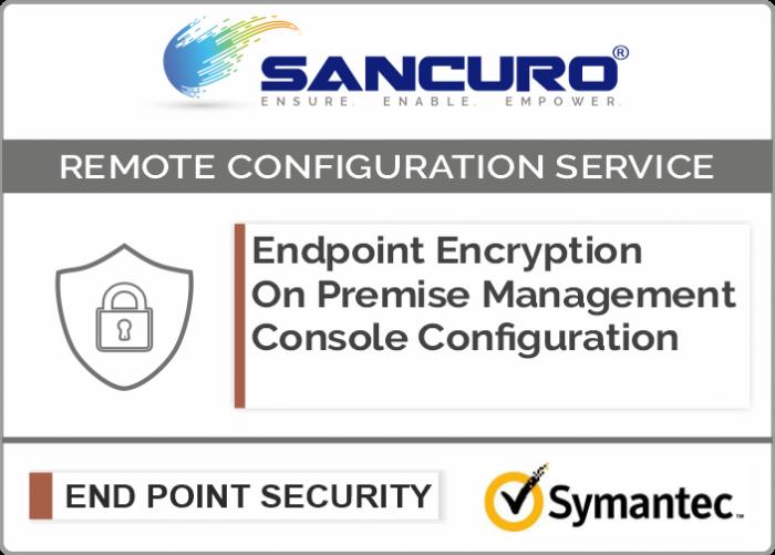 Symantec On Premise Endpoint Encryption Management Console Configuration