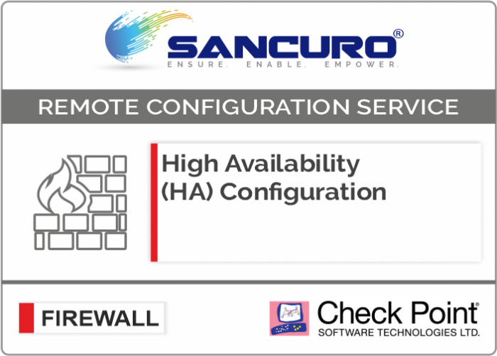 High Availability (HA) Configuration For Check Point Firewall For Model Series 5400, 5600, 5800, 5900
