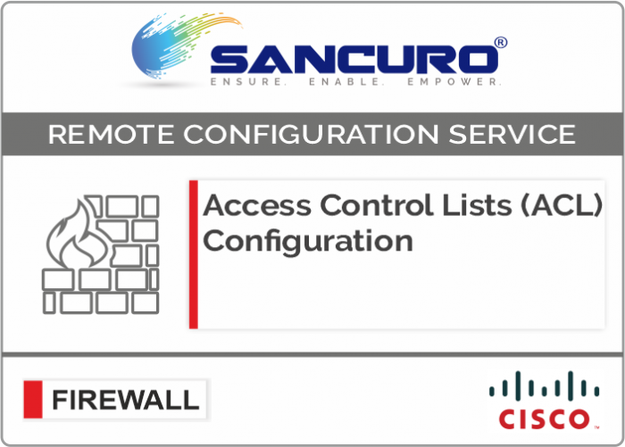 Access Control Lists (ACL) Configuration for CISCO Firewall For Model Series ASA 5510