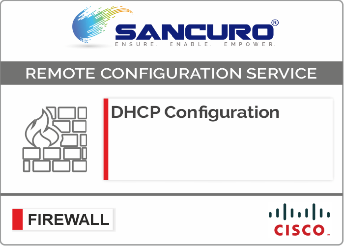 DHCP Configuration For CISCO Firewall For Model Series ASA 5510