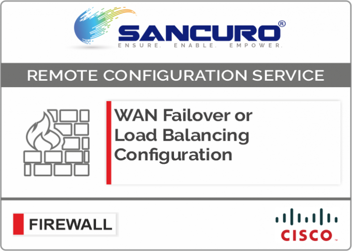 WAN Failover or Load Balancing Configuration in CISCO Firewall For Model  Series ASA 5510