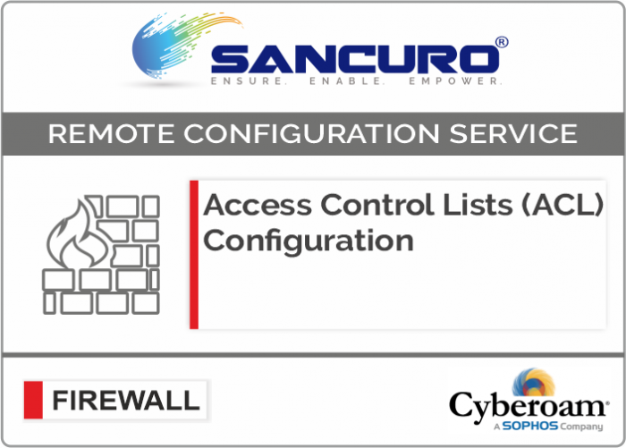 Access Control Lists (ACL) Configuration for Cyberoam Firewall For Model CR25iNG, CR35iNG, CR50iNG