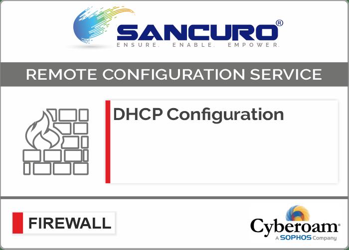 DHCP Configuration For Cyberoam Firewall