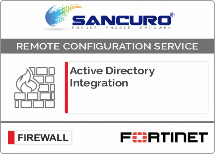Active Directory Integration for FORTINET Firewall For Model 50E, 60E, 80E, 90E