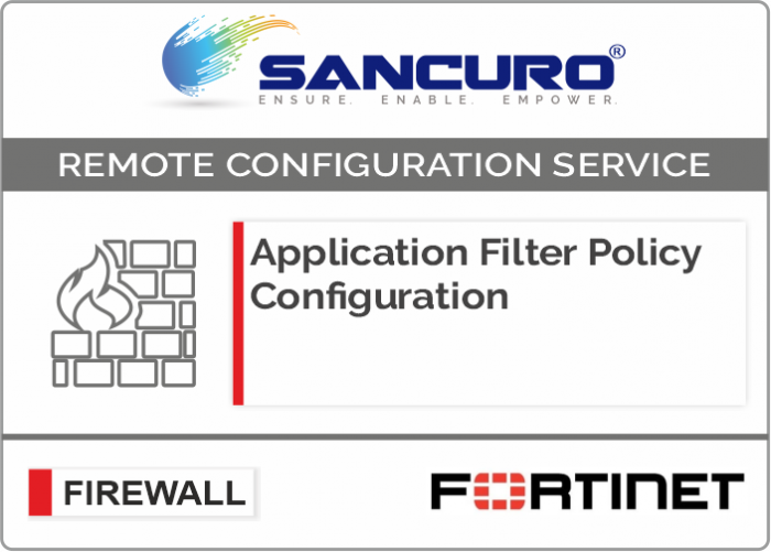 Application Filter Policy Configuration For FORTINET Firewall For Model 50E, 60E, 80E, 90E
