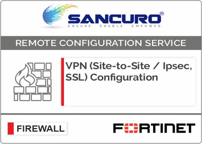 VPN (Site-to-Site / IPsec, SSL) Configuration in FORTINET Firewall For Model 50E, 60E, 80E, 90E