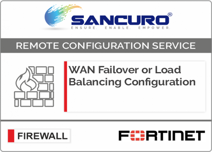 WAN Failover or Load Balancing Configuration in FORTINET Firewall For Model 50E, 60E, 80E, 90E