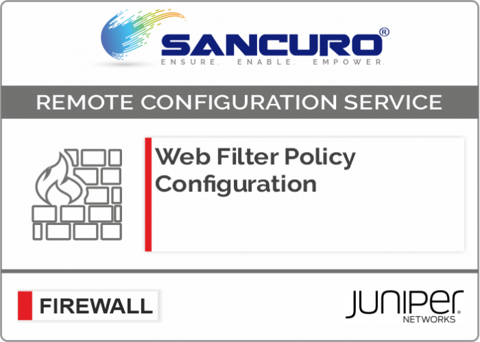 Web Filter Policy Configuration For JUNIPER Firewall