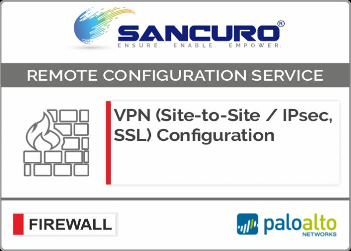 VPN (Site-to-Site / IPsec, SSL) Configuration in Palo Alto Firewall