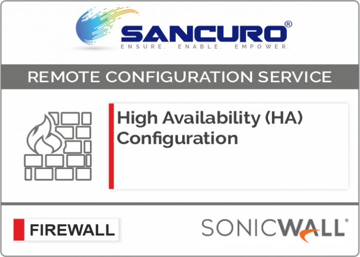 High Availability (HA) Configuration For SONICWALL Firewall For Model Series NSA5000, NSA6000