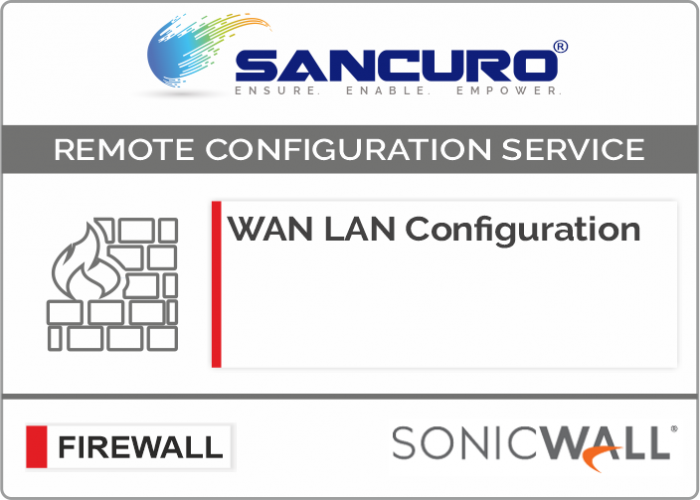 WAN LAN Configuration For SONICWALL Firewall For Model Series NSA2000, NSA3000, NSA4000