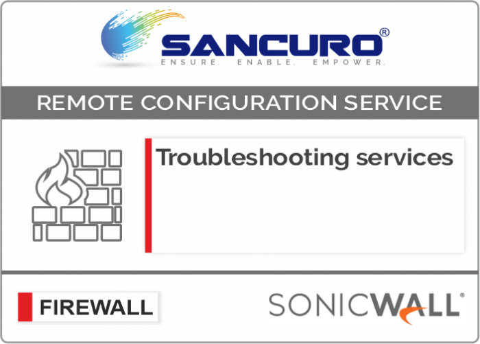 SONICWALL Firewall Troubleshooting services For Model Series NSA5000, NSA6000