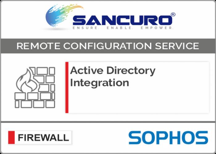 Active Directory Integration for SOPHOS Firewall For Model Series XG200, XG300, XG400