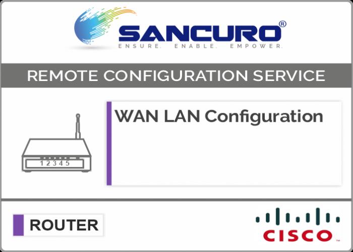 WAN LAN Configuration For CISCO Router
