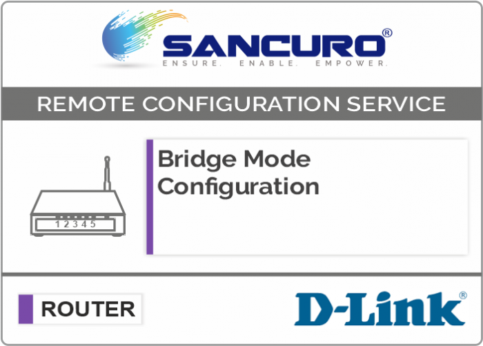 Bridge Mode Configuration For D-LINK Router
