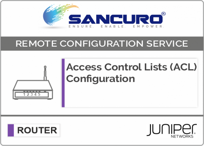 Access Control Lists (ACL) Configuration for JUNIPER Router