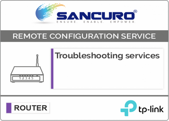 Troubleshooting services For TP-Link Router