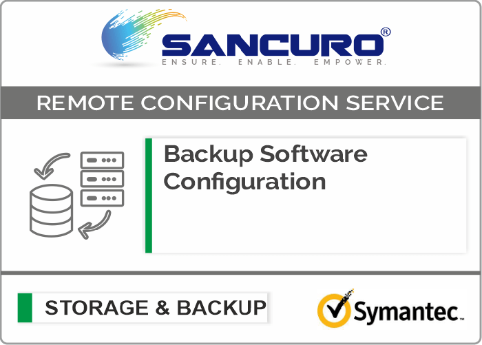 Symantec Backup Software Configuration