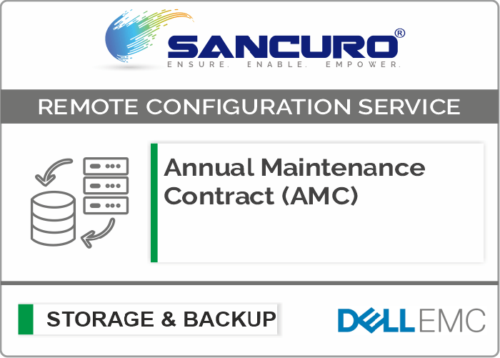 Annual Maintenance Contract (AMC) For DELL EMC Storage For Model Series VNXe, PowerVault MD, Unity