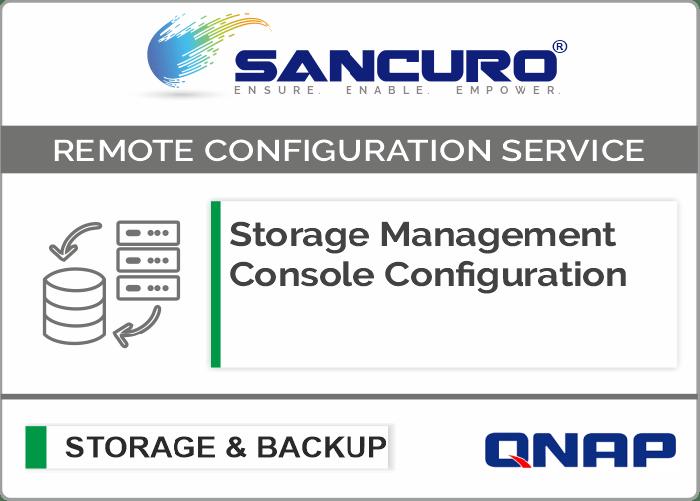 QNAP Storage Management Console Configuration