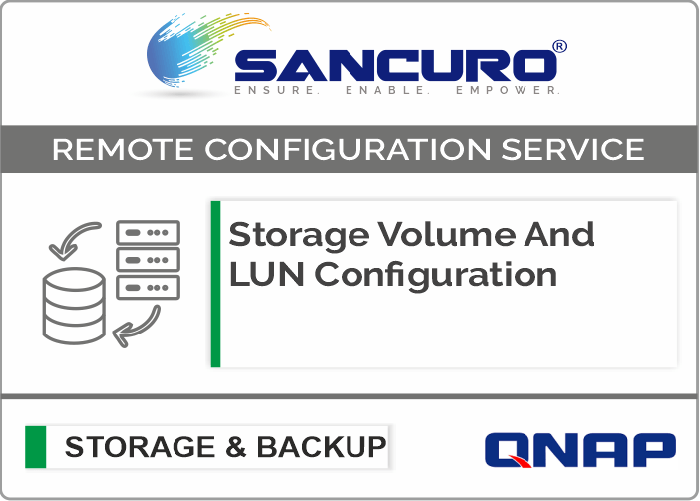 Storage Volume And LUN Configuration For QNAP Storage For Model Enterprise Series