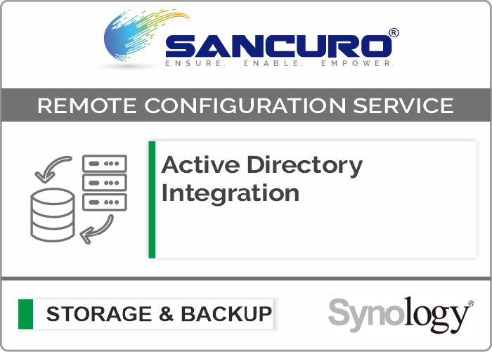 Active Directory Integration for Synology Storage For Model FS & XS Series