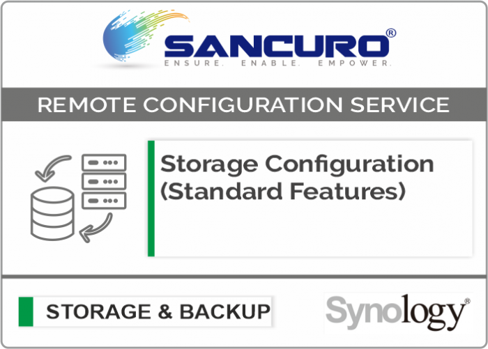 Synology Storage Configuration (Standard Features) For Model Value Series