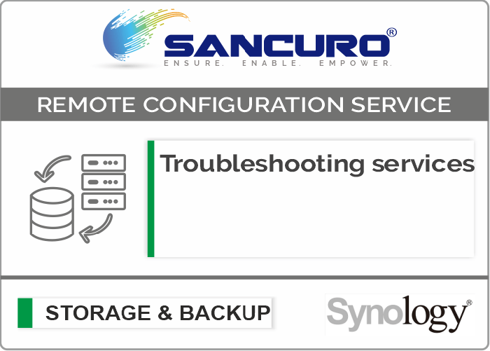 Troubleshooting services For Synology Storage