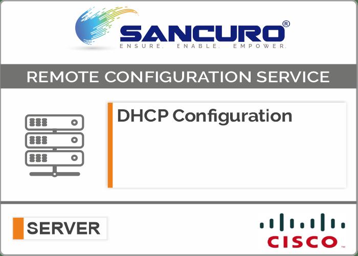 DHCP Configuration For CISCO Server