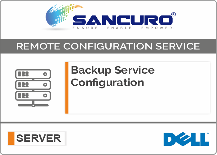 Backup Service Configuration For DELL Server