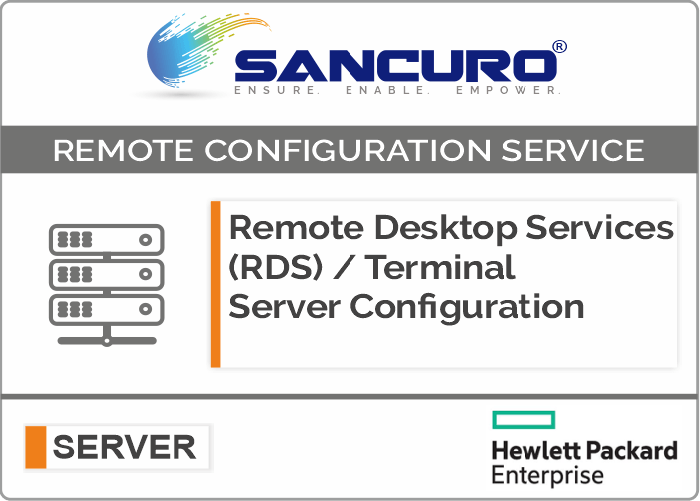 Remote Desktop Services (RDS) / Terminal Server Configuration For HPE Server