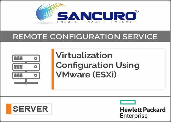 Virtualization Configuration Using VMware (ESXi) For HPE Server