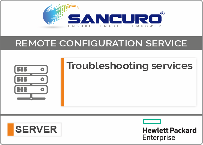 Troubleshooting services For HPE Server Configuration
