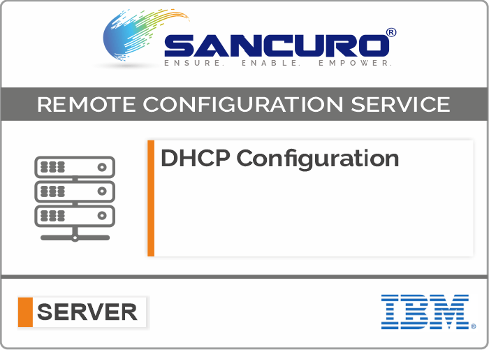 DHCP Configuration For IBM Server