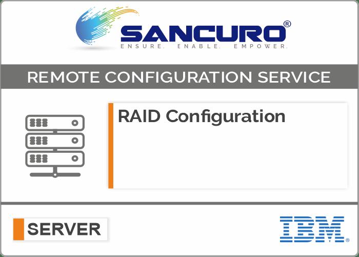 RAID Configuration For IBM Server