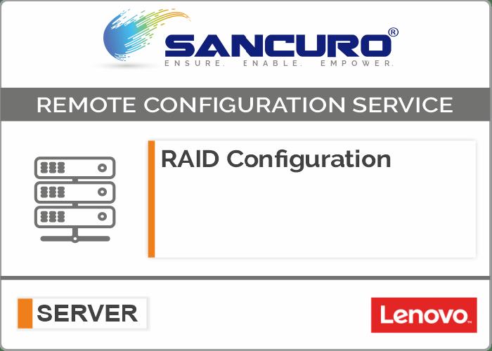 RAID Configuration For LENOVO Server