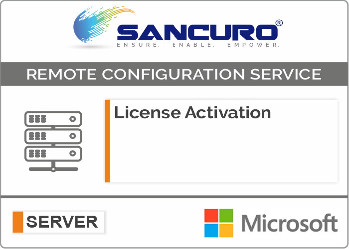 Microsoft Operating System License Activation on Server