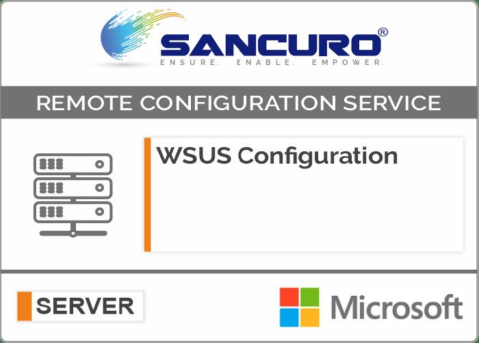 WSUS (Windows Server Update Service) Configuration For Microsoft Server