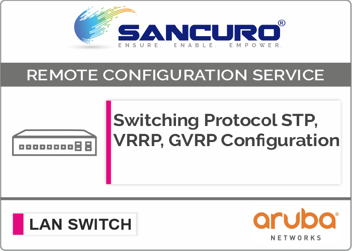 Switching Protocol STP, VRRP, GVRP Configuration For Aruba L2 LAN Switch For Model Series 1820