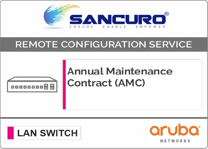 Annual Maintenance Contract (AMC) For Aruba L2 LAN Switch For Model Series 1820