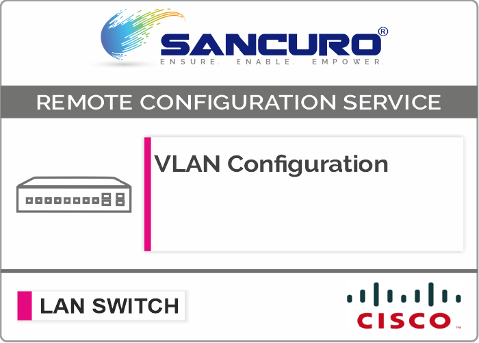 VLAN Configuration in CISCO L2 LAN Switch For Model Series C3650