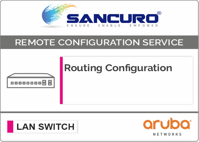 Routing Configuration in Aruba LAN Switch L3 For Model Series 2930F